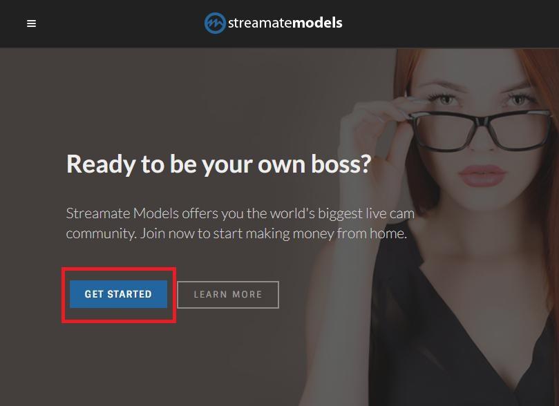 streamate modelsの登録方法 画像01